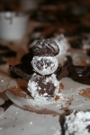 A perfect truffle snowman!