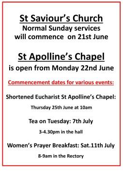 WEBSITE church open 21 June